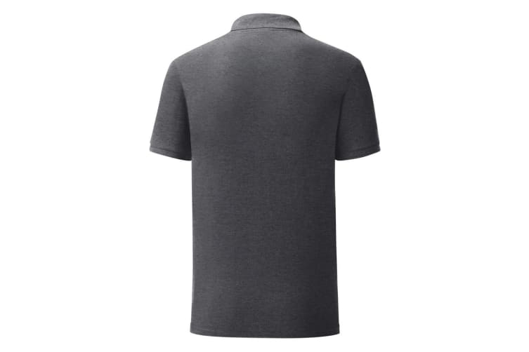 Fruit Of The Loom Mens Iconic Pique Polo Shirt (Dark Heather) (3XL)