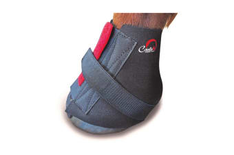 Cavallo Big Foot Horse Boot Touch Fastening Pastern Wrap (Black)