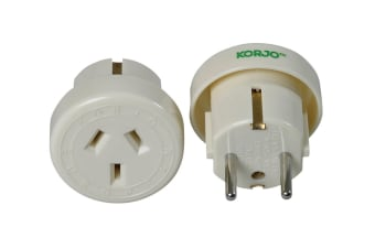 Korjo Single Travel Adapter (Europe)