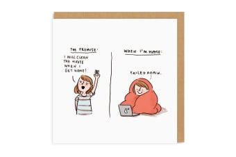 Ohh Deer The Promise Square Greeting Card (Multicoloured) (One Size)