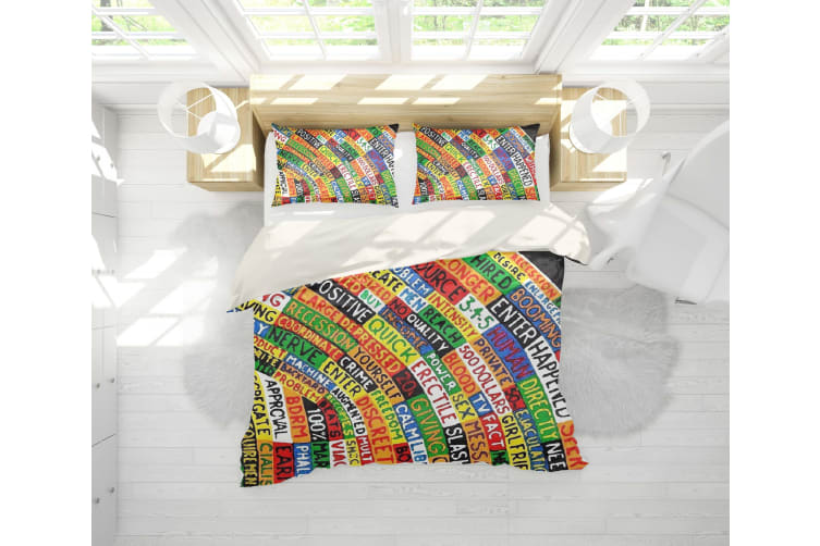 3D Band Radiohead Quilt Cover Set Bedding Set Pillowcases 64-Queen