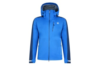 Dare 2B Mens Diluent Lightweight Waterproof Jacket With Detachable Hood (Oxford Blue/Admiral Blue)