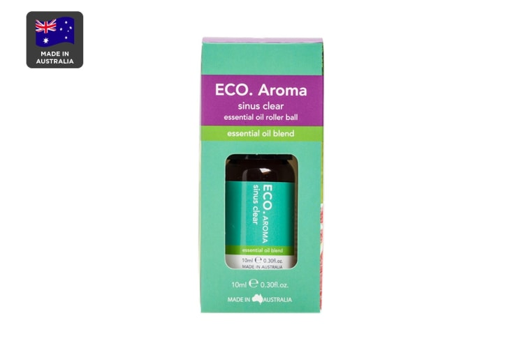 ECO. Sinus Clear Essential Oil Roller Ball with Lemongrass, Lime, Grapefruit & Peppermint (10mL)