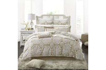 Corinthian Pearl Embellished Quilt Cover Set Queen by Private Collection
