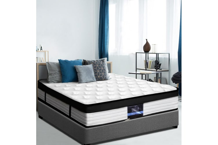 Giselle DOUBLE Size Bed Mattress Euro Top Pocket Spring 5 Zone Foam 31cm