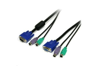 StarTech SVPS23N1 6 6 ft 3-in-1 PS/2 KVM Cable