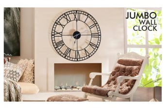 Large Outdoor Garden Wall Clock Roman Numerals 100cm