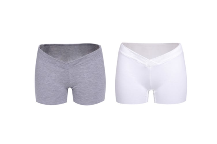 (2 Pack) Pregnant Women Wear Bottompants,Safety Pants To Prevent Low Light Waist Dressing - 13 L