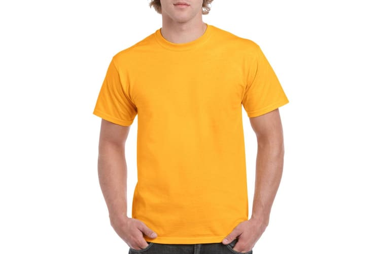 Gildan Mens Heavy Cotton Short Sleeve T-Shirt (Gold) (3XL)