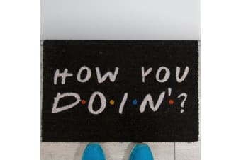 """Official `Friends` Sitcom Collectable """"How You Doin`?"""" Doormat"""