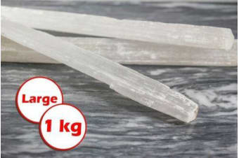 1kg Selenite Satin Rods Spar Beam Wand Pieces Crystal Healing Natural Stone