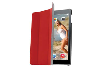 Gecko Folio Ultra Slim Audio Booster Case/Cover Protector For Apple iPad Air Red