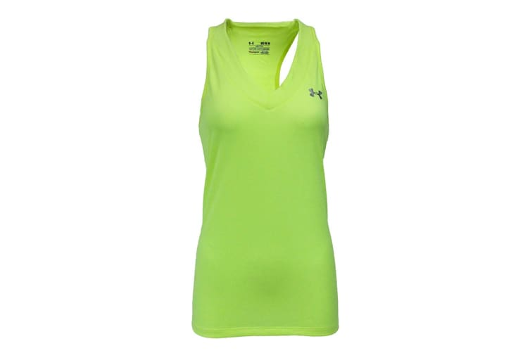 Under Armour Women's UA Tech Sleeveless Tank Top (Hi Vis Yellow, Size L)