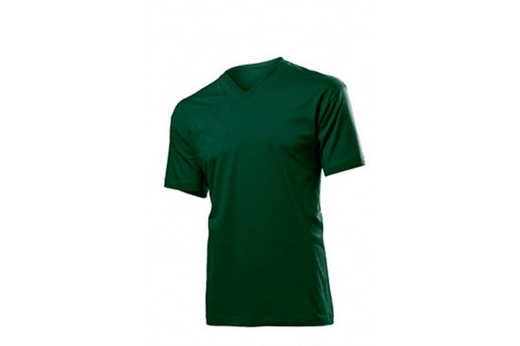 Stedman Mens Classic V Neck Tee (Bottle) (2XL)