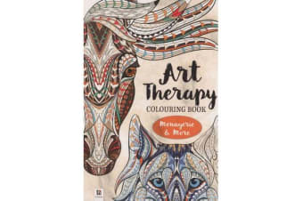 Art Therapy Adult Colouring Book - Menagerie and More (128pp)