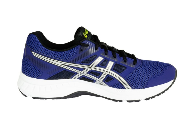 ASICS Men's GEL-Contend 5 Running Shoes (Indigo Blue/Silver, Size 8)