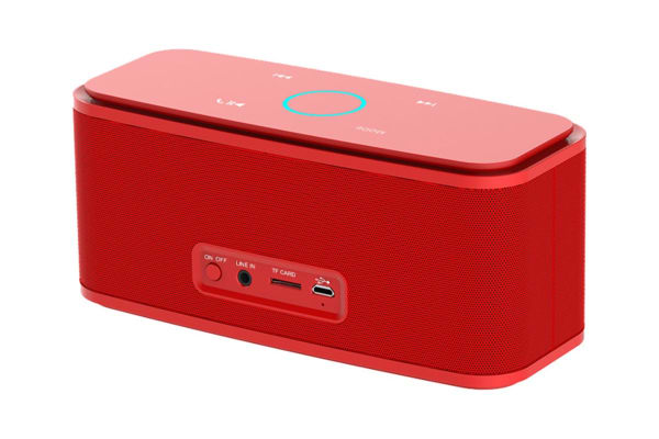 DOSS SoundBox Portable Bluetooth Speaker with Bluetooth 4.0 and 12W HD Sound - Red (DS1681RED)