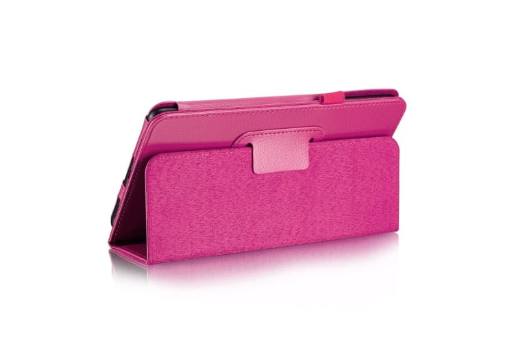 For Samsung Galaxy Tab A 8.0 SM-T380 T385 Case Lychee Leather Cover Magenta