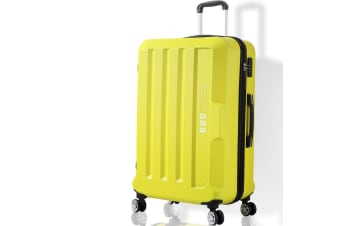 """Luggage TSA Hard Case Suitcase Travel Lightweight Trolley Carry on Bag Yellow24"""""""