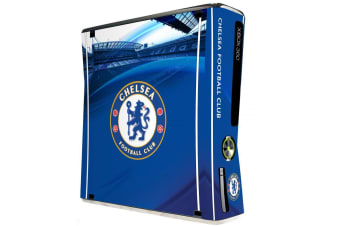 Chelsea FC Official Xbox 360 Slim Console Skin (Blue)