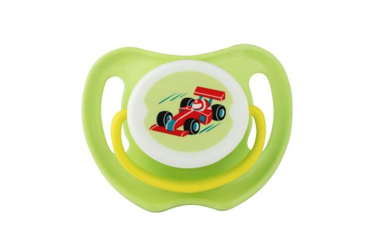 2PK Pigeon Calming Baby Nursing Soother Dummy Size M Feeding Pacifier Race Car