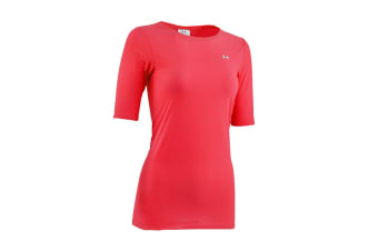 Under Armour Women's Sun Shear 1/2 Sleeve Top (Pink, Size XS)