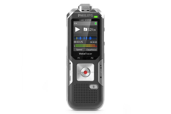 Philips 8GB 3 Mic Voice Tracer Audio with Auto Zoom (DVT6010)