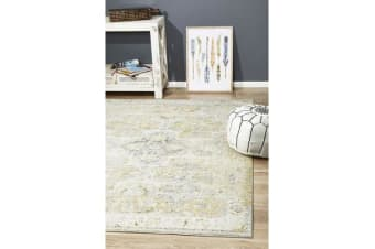 Hazel Yellow & Grey Durable Vintage Look Rug