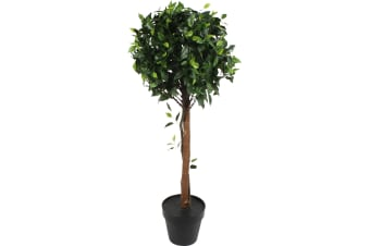 Artificial Ficus Tree Potted