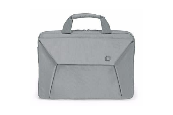 """Dicota Slim Case EDGE carry bag with shoulder strap for 10.1"""" - 11.6""""  Notebook /Laptop (Grey) Euro"""