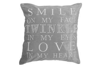 Panache Sparkle Twinkle Cushion Cover (Cushion Pad Not Included) (Silver)