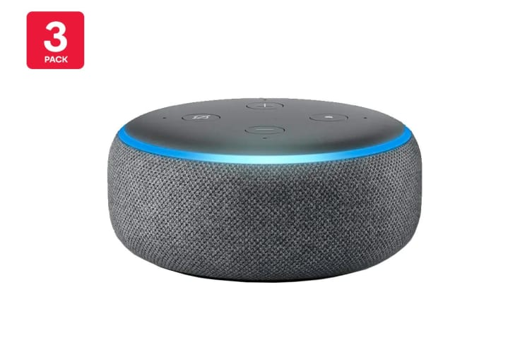 Amazon Echo Dot (3rd Generation, Charcoal Fabric) - 3 Pack