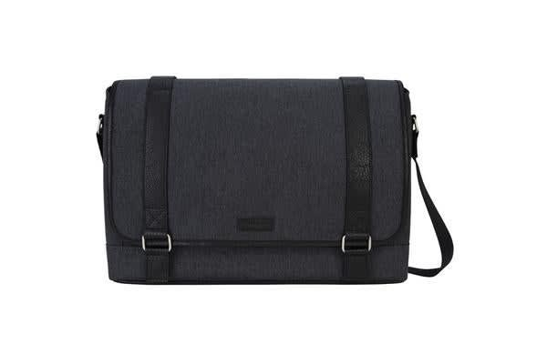 "Targus 15.6"" City Fusion Messenger Carrying Case - Charcoal Black"