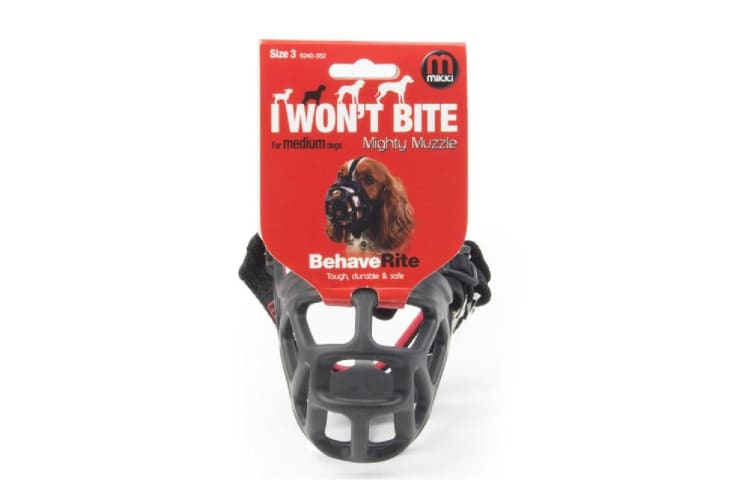 Mikki Mighty Muzzle (Black) (Size 6)