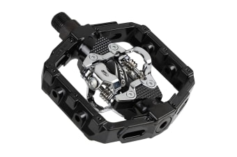 VENZO Shimano SPD Compatible Mountain Bike CNC Cr-Mo Die-Cast Aluminum Sealed Pedals With Cleats