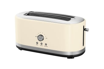 KitchenAid Loft 4 Slice Toaster -  Almond Cream (5KMT5115AAC)
