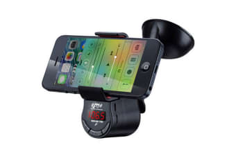Fm Transmitter/Smartphone Holder/Mic/Play Music/Make Calls Car Radio For Iphone