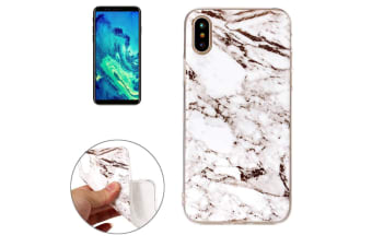For iPhone XS X Back Case  Marble High-Quality Durable Protective Cover White