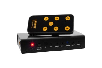 5 Way Mini HDMI Switcher Selector With Remote