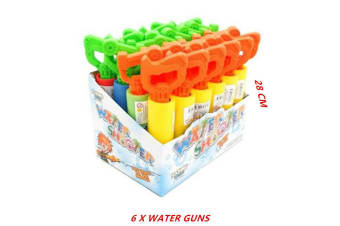 6 x Water Foam Shooter 28CM Gun Handle Blaster Pistol Pool Pump High Power Kids