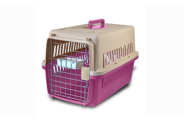Airline Approve Portable Tote Crate Pet Carrier SMALL PINK