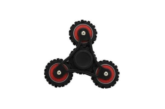3D Hand Spinner Fidget Toy Gear Style Stress Reliever Fast Bearing Spin Black