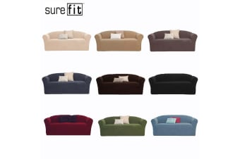 SureFit Pearson One Seater Couch Cover Federal Blue