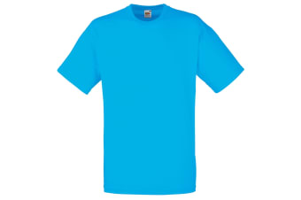 Fruit Of The Loom Mens Valueweight Short Sleeve T-Shirt (Azure Blue) (S)