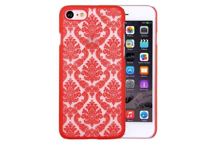 For iPhone 8 7 Case Stylish Mystical Flowers Durable Protective Cover Red
