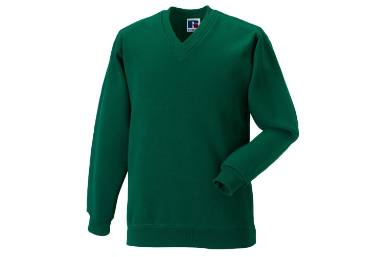Russell Workwear V-Neck Sweatshirt Top (Bottle Green) (S)
