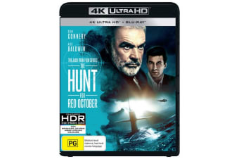 The Hunt for Red October 4K with Blu-ray UHD Region B