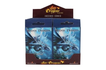 Age Of Dragons Water Dragon Incense Cones (12 Packs Of 15) (Blue)