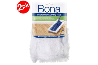 2PK Bona Microfibre Dusting Pad for Floor Mop Cleaning/Dust Washable/Reusable