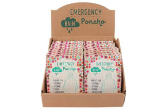 Something Different Emergency Ponchos With Display (Set Of 24) (May Vary) (One Size)